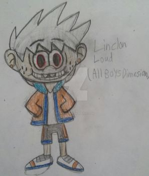 Lincoln Loud of the 11 Boys Dimension by TobiIsABunny