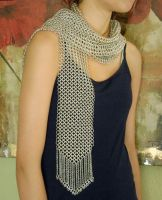 Chainmaille Scarf with Fringe by WarriorWhite