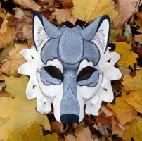 Gray Dire Wolf Mask by merimask
