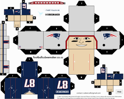 Rob Gronkowski Patriots Cubee by etchings13
