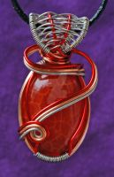 Oval Fire Agate Pendant by MorrighanGW