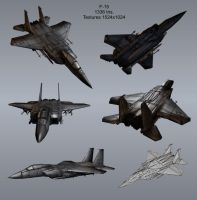 low poly F15 by toneloperu