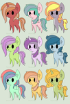 3pt. MLP Pastel Adopt Batch [4/9 OPEN] by cloudsabove-adopts