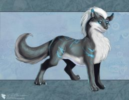 Blue Tribal Wolf by Ulario
