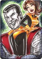 Colossus and kitty pryde by mainasha