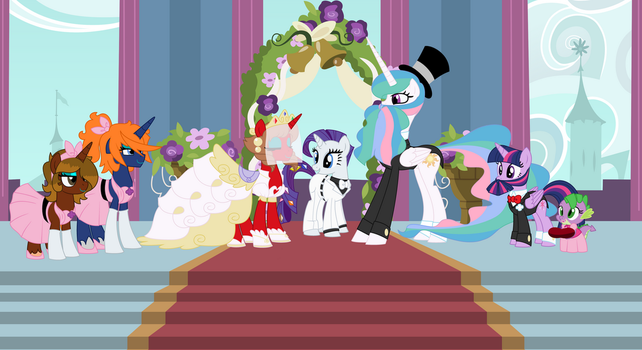 Hearts and Hooves Wedding (blazeing Shiald) by EvilFrenzy