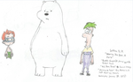 Ice Bear, Ferb, and Nonny by WillM3luvTrains