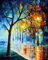 Naked winter by Leonid Afremov by Leonidafremov