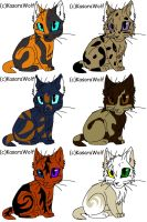 Warrior kits adoptablesCLOSED by Warrior-of-Riverclan