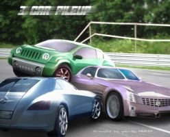 3 car pileup by musth