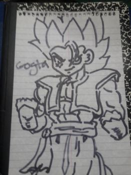 Gogeta New Look Design by ZiggyXD