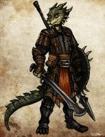 Argonian Mercenary 01 by TheLivingShadow