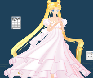 princess serenity comission WIP 2 by chatterHEAD