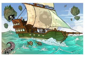 Sailing the seas Treasure Hunt page 1 by travisJhanson