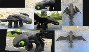 Night Fury Made 'O Clay by Torrentpelt