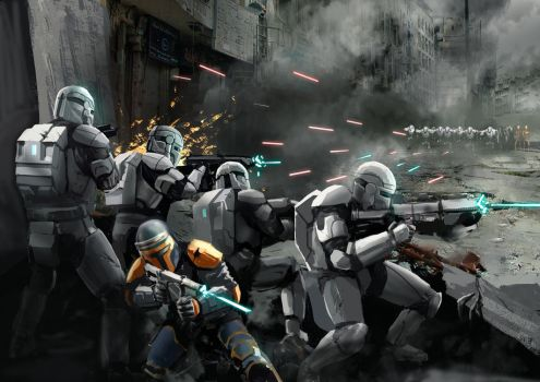 Republic Commando In Battle by Entar0178
