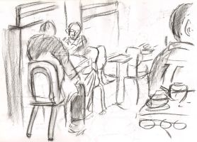 Cafe drawings 33 by Adele-Waldrom