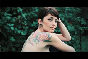 Girl with tattoo by Basistka