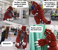 Groudon Invades JoAnn