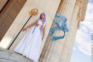 Athena in the temple by Giorgiacosplay