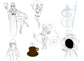 A beautiful sketchdump! by Hermsi