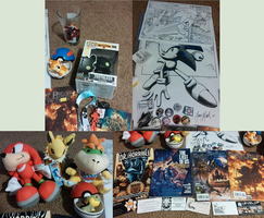 Rose City Comic Con Birthday Haul (close up) by Evertooth