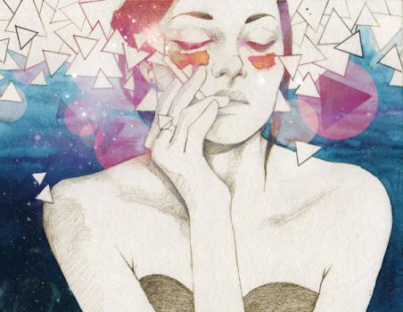 Glitter and Glamour by elia-illustration