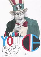 D.I.E. Undead Uncle Sam by BaldPat