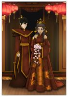 Zutara wedding bells by Kuro-Akumako