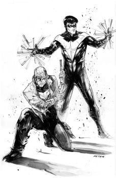 Nightwing and Redhood blood brothers by Peter-v-Nguyen