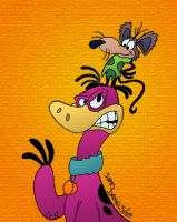 Dino and the Cavemouse by jpox