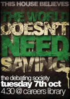 The World Doesn't Need Saving by Bobbwhy