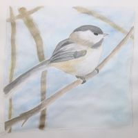 Perch Little Chickadee by 96Patches
