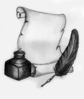 Quill, Scroll and Ink by MP3Designs