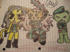 Leo,Virginie and Flippy in war by Beautiful645