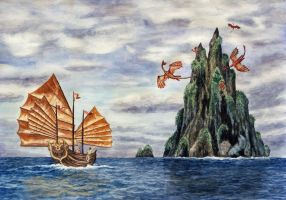 Voyage to Dragontooth Island by WillemSvdMerwe