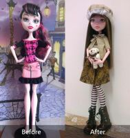 Amber (OOAK MH doll - before after) by Lunai