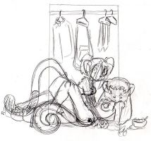 Keep it in the closet-sketch by Kay-Kitten