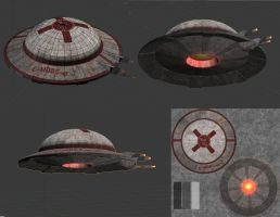 3D flying saucer swiss edition by alkhor