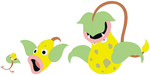 Bellsprout, Weepinbell and Victreebel Base by SelenaEde