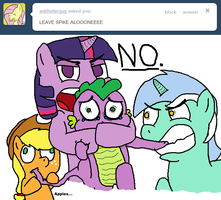 Leave Spike Alone by Spikandfrends