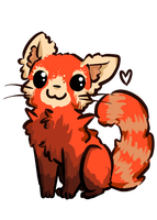 Chibi red panda - photo#24