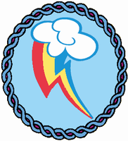 Rainbow Dash Embroidery Patch by AkitaHaru