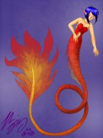 Fire mermaid by TheReza13