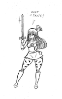 Candy Girl - The Candy Sword by Frogwalker