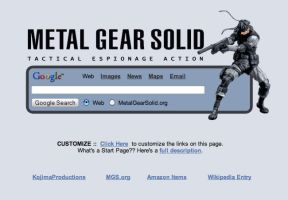 Metal Gear Solid Startpage by AwesomeStart