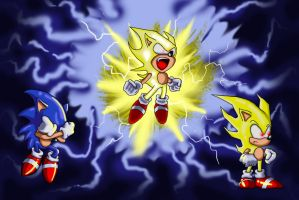Super Sonic Transformation by aprilchild