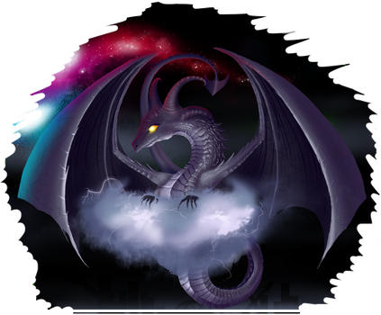 Storm dragon by krastei