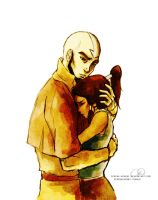 Aang and Korra by ChristyTortland