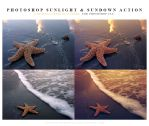 Photoshop sunlight and sundown action by lieveheersbeestje